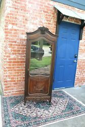 French Antique Louis Xv 1 Door And 3 Shelf Cabinet