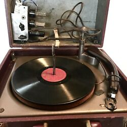 Webster Chicago Vintage Tube Record Player Turntable Phonograph Parts Untested