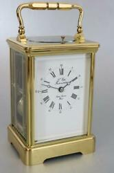 Modern L'epee French Carriage Clock Gong Strike And Repeater Stunner Serviced