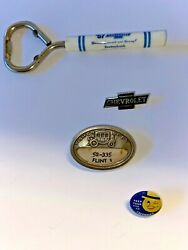 Vintage Chevrolet Lot Of 4 Great Items Advertising, Promo, Employees Qty Of 4
