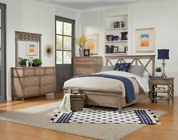 Alpine Furniture Potter Bed, French Truffle
