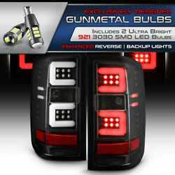 27 Led Chips Reverse For 16-18 Chevy Silverado 1500 Neon Tube Tail Light Black