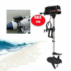48v 8hp Electric Brushless Outboard Engine Inflatable Fishing Boat Motor 2200w