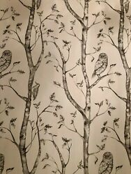Peel And Stick Wallpaper Gray Owl Wood Print Wall Furniture Contact Paper 30 Sq Ft