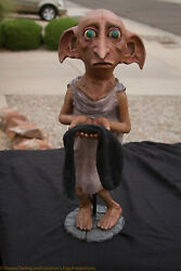 Life Size House Elf Polyfoam And Latex Statue. In The Style Of Dobby From Har