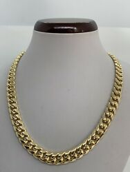 10k Hand Polished Miami Cuban Link Men's Chain Necklace 9.5mm 20-30