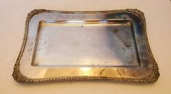 Vtg Hecworth Reproduction Old Sheffield Silver-plated Rectangle Tea Tray 12x7.5