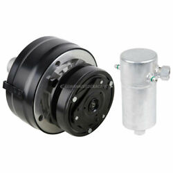For Chevy Gmc Buick R4 Ac Compressor W/ V-belt Clutch Pulley And A/c Drier Csw