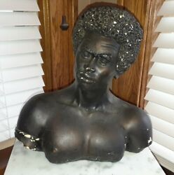 Universal Statuary Corp. Chicago 1970 Native American Bust By V. Kendrick 12