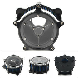 Clarity Air Cleaner Blue Intake Filter Fit Harley Dyna Softail Touring Glide Blu