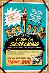 Carry On Screaming D.bill 1966 Original British Double Crown Poster 30 X 20