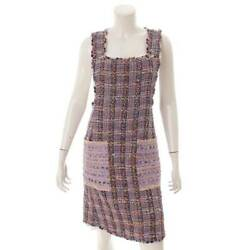 Tweed Apron Dress P55535 Multi Colored 34 Secondhand Appraised Gua _34907