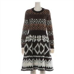 Coco Button P62 Wool Cashmere Knit Dress 34 Women And039s Bl _34960