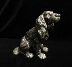 Vintage Pewter Spaniel Figurine, Ca. Late 1970's, Purchased New, 1 Owner