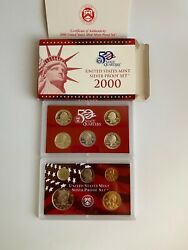 2000 Us Mint 50 State Quarters Silver Proof 10 Coin Set
