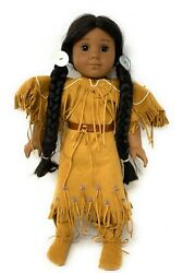 """American Girl Kaya Doll 18"""" Native American Indian With Meet Outfit"""