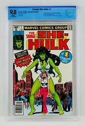 Savage She-hulk 1 Cbcs 9.8 White Pages Newsstand First Appearance Nm/mt Not Cgc