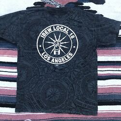 Vintage Ibew Local 18 Los Angeles All-over Print Union Made In Usa Extra Large