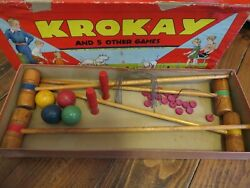 Vintage Krokay And 5 Other Games For Playing Indoors 3378 Transogram 1937