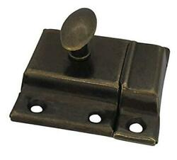 Oval Turn Cabinet Latch, For Cupboard And Other 1pack-large Antique Brass