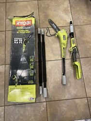 Ryobi 10 In. 40-volt Lithium-ion Cordless Pole Saw Tool Only Chains Off Read