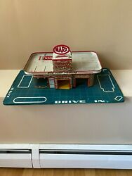 Vintage Marx Skyview Parking Service Center Gas Station Tin Metal Lithograph Toy