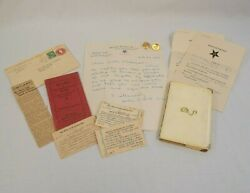 Vintage Masonic Order Of The Eastern Star Items--cuff Links Cards By-laws Asg