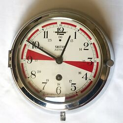 Art Deco Smiths Astral Ships Bulkhead 8 Day Wall Clock 1932-34 Working Condition
