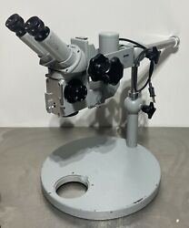 Zeiss Opmi-1 Stereo Microscope On Benchtop Laboratory Stand