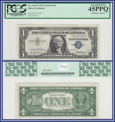 Star Note 1957 1 Silver Certificate Dollar Pcgs 45 Ppq Extremely Fine