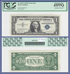 Star Note 1957b 1 Silver Certificate Dollar Pcgs 45 Ppq Extremely Fine