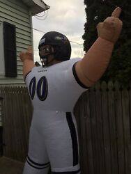Nfl Baltimore Ravens Apparel Inflatable Tiny Yard Lawn Football Player Gear
