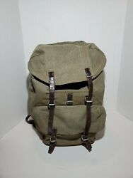 Swiss Army 1962 Vintage Leather And Canvas Military Heavy Duty Rucksack And Duffle
