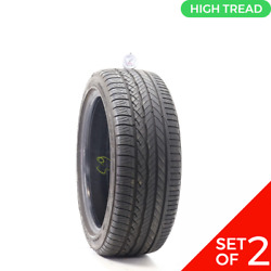 Set Of 2 Used 215/45r17 Dunlop Conquest Sport A/s 91w - 8.5-9/32