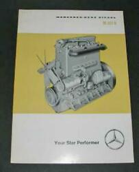 An Old Mercedes Benz Sales Brochure For The M203b Commercial Vehicle Engine .