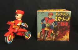 Miura Toy Captain Scarlet Tricycle Wind Up Tin Toy