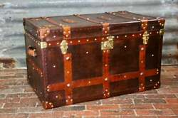 Large English Antique Inspired Handmade Coffee Table Trunk
