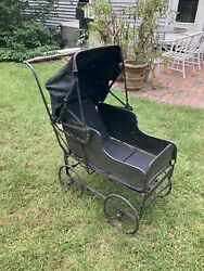 Victorian Folding Baby Carriage Stroller Ultra Rare