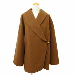 Hermes Pure Cashmere 100 Half Court Brown Women And039s Secondhand Makoto Pawn _38518