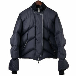 Hermes Quilting Reversible Short Down Jacket Size 38 Gorchier Period Blac _38490