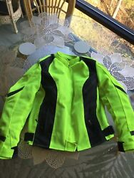 Woman#x27;s Xelement Motorcycle Jacket Size Large Removable Liner