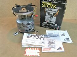 NICE VINTAGE COLEMAN PEAK 1 FEATHER 442 DUEL FUEL CAMPING BACKPACK STOVE 1993 $99.99