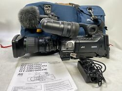 Jvc Gy-hm750 Prohd Compact Shoulder Camcorder With Kt14x4.4krsj Lens And Acc