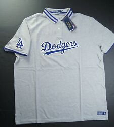 Polo Menand039s Mlb Collection Dodgers La Polo Shirts Grey Size Xl Nwt