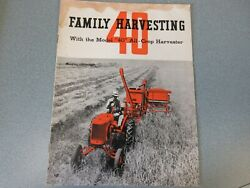 Allis Chalmers 40 All-crop Combine Brochure From The 1930and039s 24 Pages