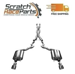 Corsa Cat-back Exhaust System W/split Rear Exit For 15-17 Mustang 304 Ss 14332