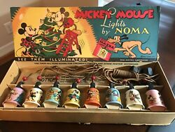 Disney Vintage Toy - 1930's Mickey Mouse Lights By Noma Electric Corp.
