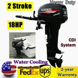 246cc 2 Stroke 18hp Outboard Motor Engine Fishing Boat Engine Water-cooling Usa