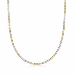 5.00 Ct. T.w. Diamond Tennis Necklace In 18kt Gold Over Sterling