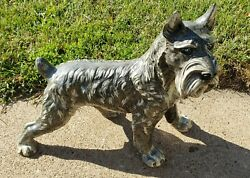 Vintage Life Like Schnauzer Dog By Marwal Ind. Inc. Measures 15 Long